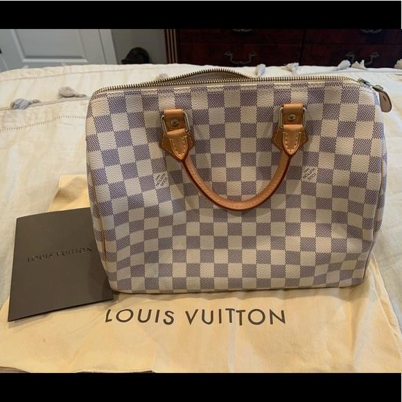 da785699dff Louis Vuitton Speedy 30 Damier Azur Canvas